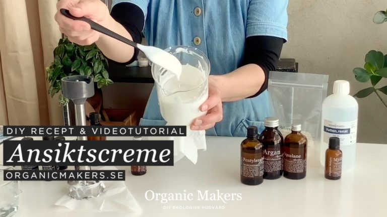 Gör din egen kräm, emulsion, diy ansiktscreme - organicmakers.se