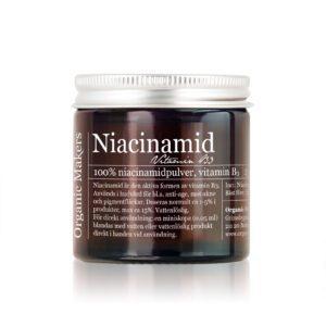 Niacinamid - niacinamide 100% rent pulver för DIY hudvård, 25 g - organicmakers.se