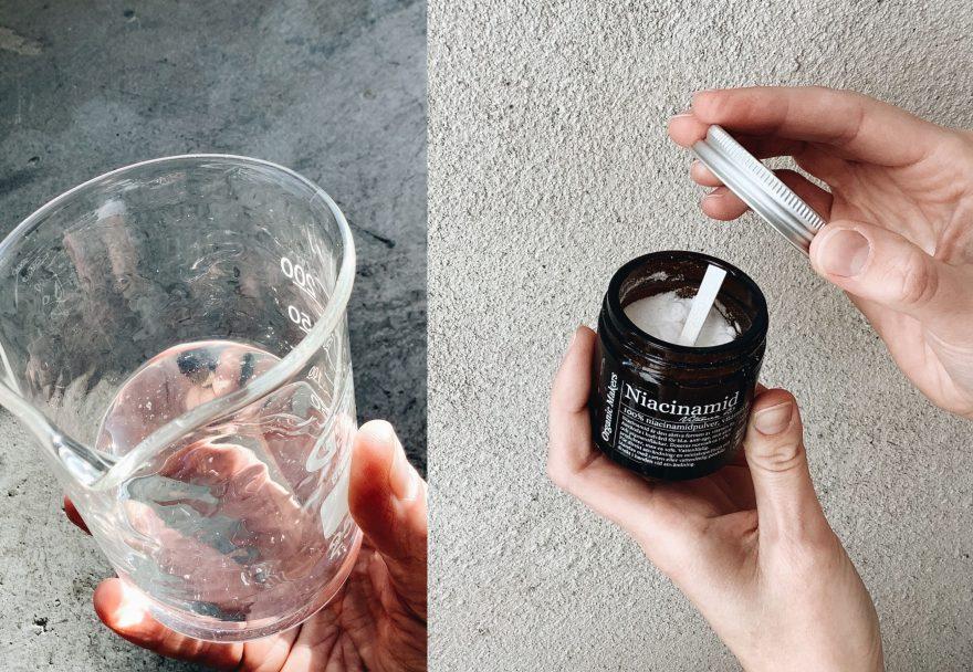 DIY niacinamidegel niacinamidcreme - organicmakers.se