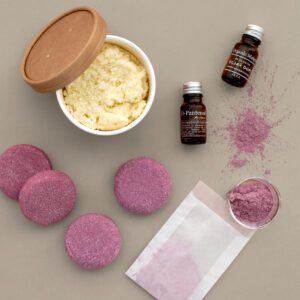 Schampokakor DIY KIT - pH-balanserade sulfatfria hibiskus ros