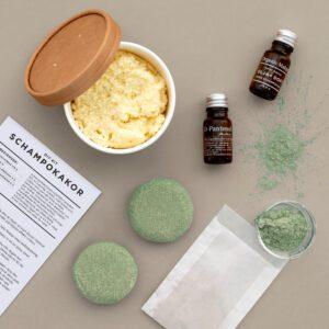Schampokakor DIY KIT - pH-balanserade sulfatfria rosmarin nässla