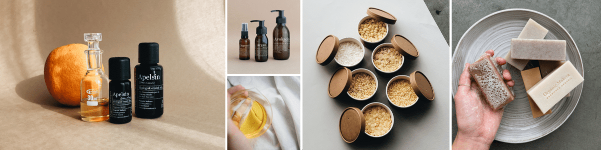DIY hudvårdsprodukter med ekologiska ingredienser - organicmakers.se