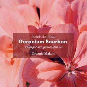 Geranium eterisk olja, ekologisk, för hudvårdstillverkare