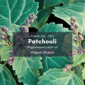 Patchouli eterisk olja, ekologisk, för hudvårdstillverkare