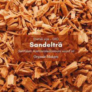 Sandelträ eterisk olja, ekologisk, för hudvårdstillverkare
